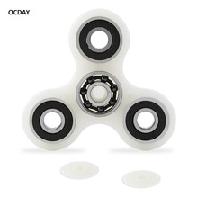 OCDAY Fingertip Spiral Hand Spiner Finger Ashen Luminous Attractive Shell Steel Beyblade Fidget Spinner Toy For Autism New Sale