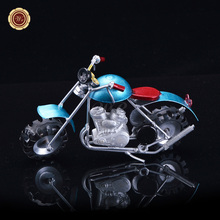 WR Lovely Mini Metal Model Motorcycles Color Iron Motorbike Model Toy Boys Gifts Kids Toys Christmas Decorations for Home