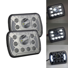 CO LIGHT Rectangle Led Headlight 7X6 Inch 55W 40W 6500K 4800Lumens Auto Replacement Parts for DC 12V 24V Vehicle(China)