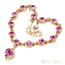 Korea Style Magic Imitation Bracelet Fashion heart Crystal  bracelets & bangles for women 1GD7