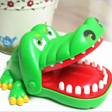 Baby toy big crocodile joke mouth teeth bite finger fun fun funny crocodile toy family prank giving gift to children