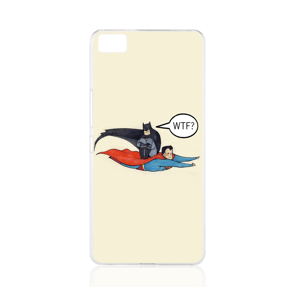 17815 Superman Carrying Batman WTF cell phone Cover Case for BQ Aquaris M5 for ZUK Z1 FOR GOOGLE nexus 6(China (Mainland))