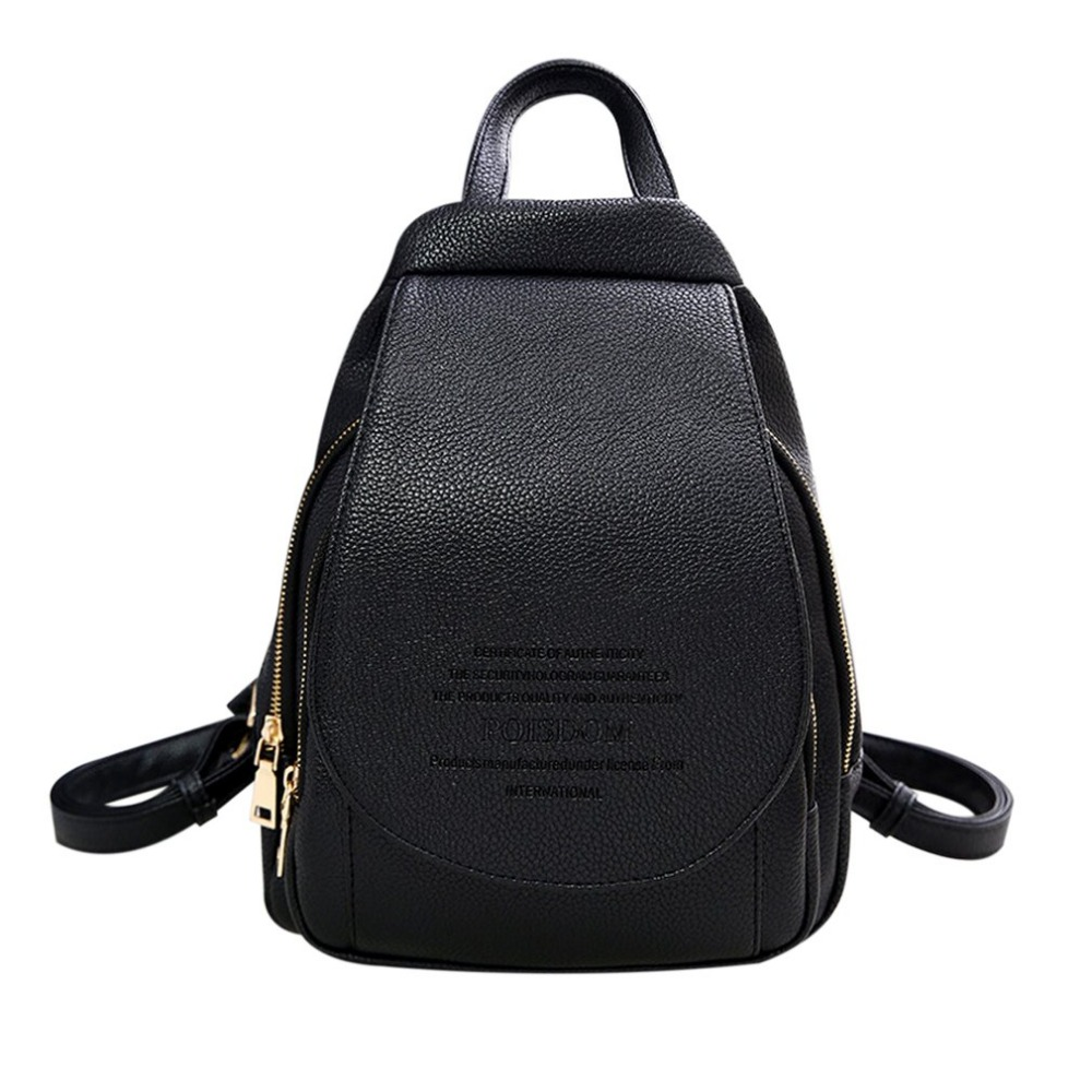 Fashion Women Backpack Female Leisure Travel Bag PU Leather Simple Design Metal Hardware For Daily Shopping Bag<br>