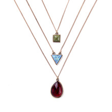 KISS ME Exquisite Multilayer Geometric Ms Small Pendant Necklace From Indian Factory Wholesale