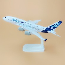 Alloy Metal Prototype Air A380 Airbus 380 Airlines Airplane Model Plane Model Stand Aircraft Kids Gifts 20cm(China)