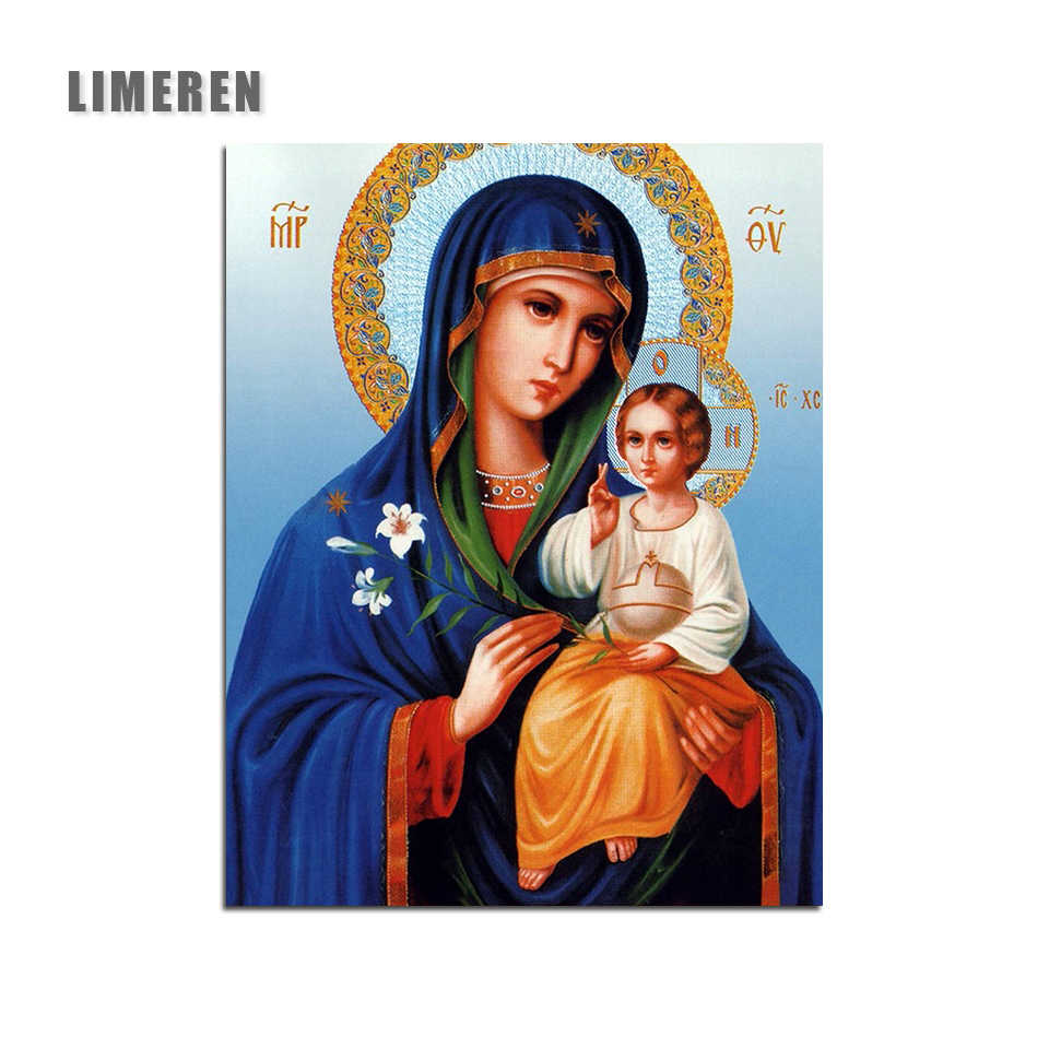 Russian Icon Paint By Numbers Kits Number Canvas Hand Painting Painted Oil Bless