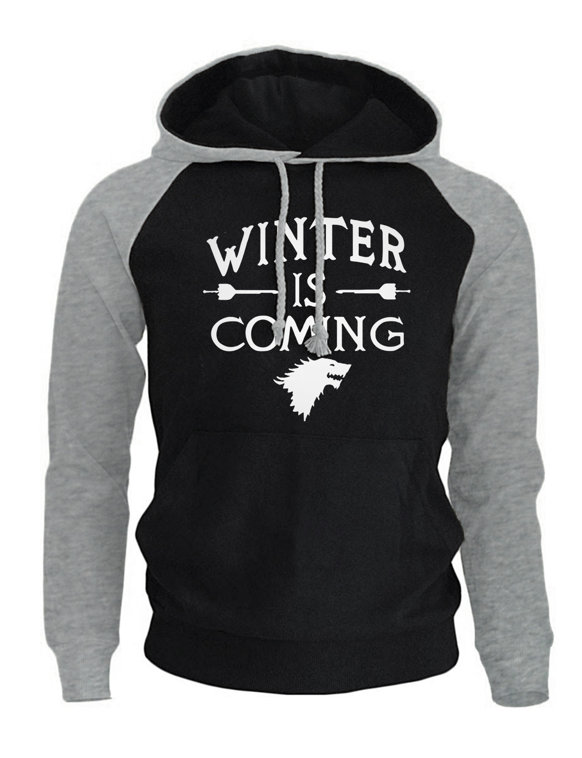 Game of Thrones Fashion Streetwear Hoodies 2017 Autumn New Arrival Winter Fleece Raglan Sweatshirts Winter Is Coming Hoody Men