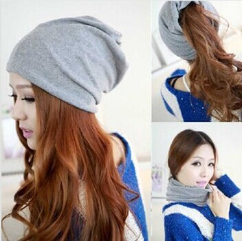 727c61a06ee Free shopping 2014 fashion Autumn and winter hats for women beanies muffler  scarf dual-use hat covering hip-hop cap turban