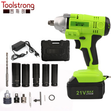 Toolstrong 21V Lithium Battery Max Torque 320N.m 2.0Ah Brushless Electric Impact Wrench Cordless Drill Cordless Wrench TSL-IW01B(China)