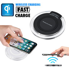Portable Mini Acrylic QI Wireless Limitless Charger Charging Pad Mat For Iphone 8/8 Plus/X For Samsung Galaxy S6(China)