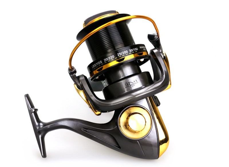 High Quality Large Capacity Long Distance Casting Sea Fishing Spinning Reel All Metal Gapless Fishing Line Winder Reel 8000 9000<br><br>Aliexpress