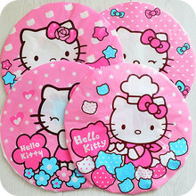 Kawaii Pink Kitty Cat Waterproof Shower Cap Beauty Town Beauty Care Accessories Shower Caps Hotel Shower Hat .Party favor(China)