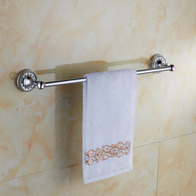 Bathroom accessories chrome brass 60cm single towel bars bathroom towel rack wall mounted antique bathroom towel bars shelf(China)