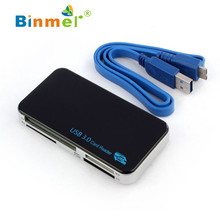 Binmer  Hot selling Binmer New USB 3.0 Compact Flash Memory Card Reader Adapter For TF SDHC CF Micro SD