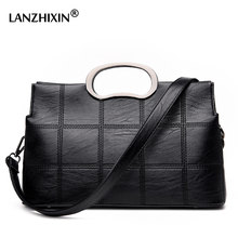 Lanzhixin Brand 2017 Women Handbags Fashion Tote bags Thread Leather Crossbody Shoulder Bags Plaid Designer Bags Ladies 1098(China)