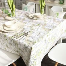 Linen Table Cloth Tableclothe Mediterranean Printed Dining Table Cover Kitchen Home Textile Home Decor Vintage Dining Tablecloth