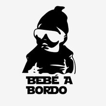 Vinyl sticker Spanish on car Bebe a bordo Safety Warning Stickers Car Window Vinyl Decal Spanish(China)