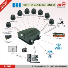 25fps/30fps google maps gps car tracking system hdd 8 channel wifi dvr with TV out port ,H80GW(China)