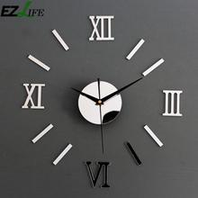 EZLIFE Creative Design Large Size Wall Clocks Luxury Living Room Decoration Wall Clock Big Mirror Wall Clock VQ0089