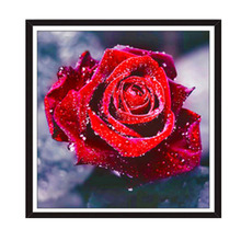 "5D Diamond ""Red Rose"" Embroidery Painting Rhinestone Cross Stitch Craft Home Decor DIY Rose Flower Full Diamond Pantings"