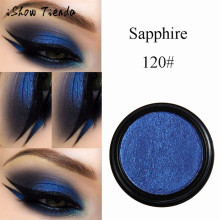 ISHOWTIENDA 2017 Long lasting Glitter Eyeshadow Palette Metallic Eye Cosmetic Radiant Shimmer Eye shadow Blue Dropshipping(China)