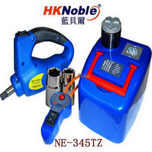 HKnoble Car Hydraulic Jack With LED Light + Electric Wrench, Max Top-heavy 1200KG Min/Max Height:145/345MM, 350N.m Max Torque