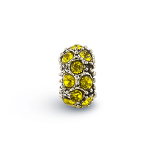 New Fashion DIY Yellow Cubic Zirconia Round Beads for Women CZ Crystal Loose Bead fit for Pandora Accessories TZ155