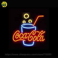 Energy Drink Neon Sign Glass Tube Coc Neon Recreation Room Handcrafted Frame Sign Store Display Iconic Light Tube 24x24(China)