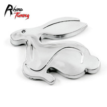 Racing Rabbit  Trunk Car Sticker for GTI VW Golf MK1 MK4 MK5 MK3 MK6 Golf GTI  Rabbit Side Panel Car Badge 3D Chrome Decal 455