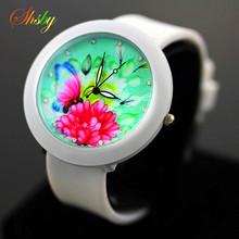 shsby More design casual watch woman and girl quartz watch silicone watch women dress watches(China)