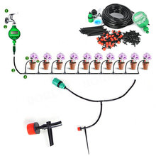 25m hose Automatic Micro Drip Irrigation System timer DIY Garden Plant Spray Self Watering Kits with Adjustable Dripper(China)