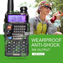 BaoFeng UV-5RE Plus Camouflage Walkie Talkie UV-5RE 128CH Portable Radio Dual Band VHF UHF Handheld Ham Radio Communicator