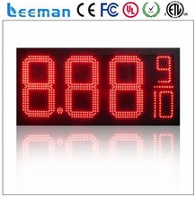 "Leeman 10"" led gas price signs changer, 27"" 8.889 Yellow Color price list outdoor led gas pricing signs"