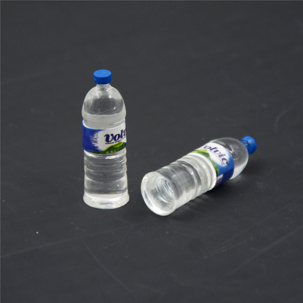 2pcs Dollhouse Miniature 1//6 Scale Kitchen Mineral Water Bottle Drinking Toy
