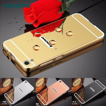 Mirror Case For Lenovo P70 Back Cover Housing Fashion Rose Gold Silver Black Beauty Frame P70-A P70T P 70 Shell New
