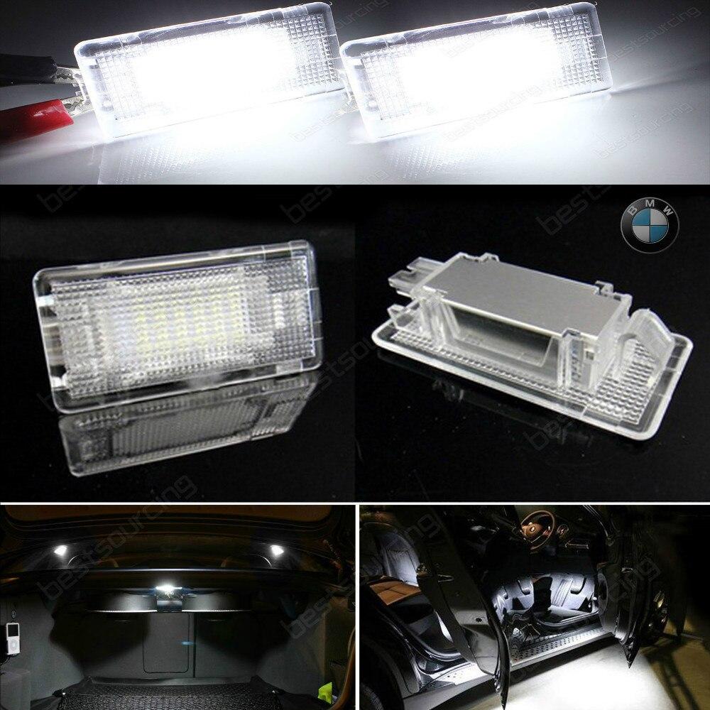 2x  LED Footwell Luggage Trunk Boot Light E39 E60 E61 M5 F01 E90 E38 E81 E82(CA201)<br>