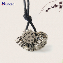 2017 New Alloy Vintage Ethnic Style Necklace Lotus roots Pendant Women Sweater Choker Necklaces
