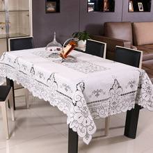 Table Cloth White Toalha De Mesa Lace Nappe Printed Casamento Hollow Floral Tafelkleed Crochet Tablecloths Wedding Decoration
