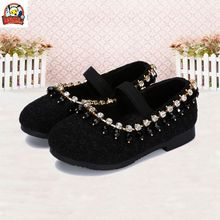 Lesvago quality Korean version girl shoes  new crystal shining bright diamond shoes wild baby girls shoes kid girl princess shoe