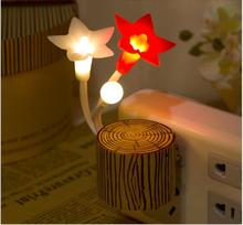 US plug Romantic Colorful Dream flower Night Light Sensor Control Bed LED Light Lamp for Home Bedroom Decoration
