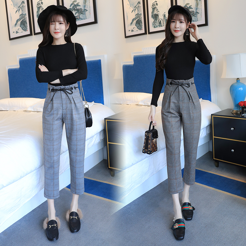 G466492 Fashion Striped Summer Style Casual Pants Two Sets