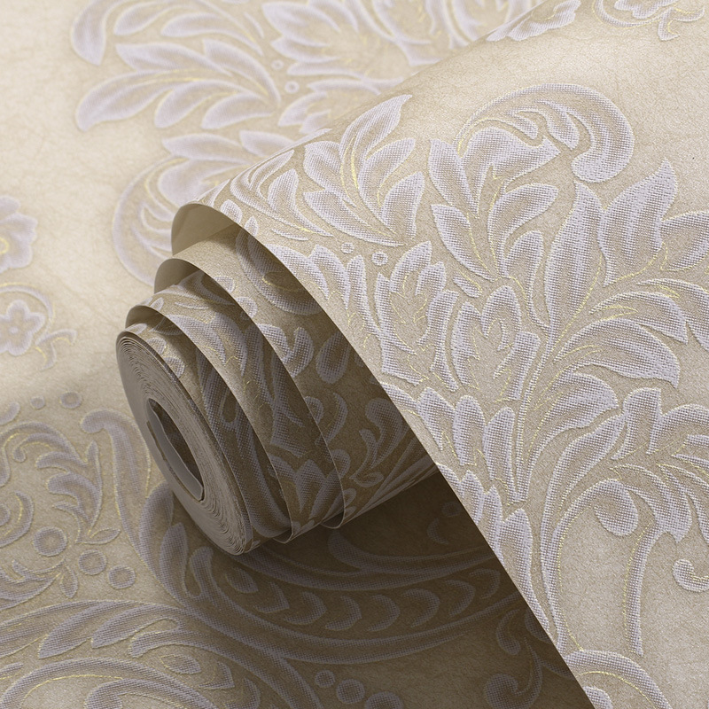 beibehang Simple Luxury Damask Wallpaper For Wall 3 D Embossed TV Room Bedroom Wall paper Home Decor papel contact contact paper<br>