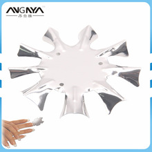 2016 New Arrival ANGNYA 9 Sizes Stainless Steel Edge Trimmer Nail Cutter Clipper Q-French Art Design Nail Tools Single Piece(China)