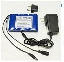 Portable Super Capacity Rechargeable Lithium Ion battery pack DC 12V 6800 Mah CCTV Cam Free Shipping Monitor