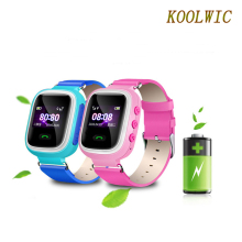 "KOOLWIC Mobile Watch Phone GPS Track Children Safe Smart Wristbands GSM Phone Support Android IOS 1.0"" TFT Color Screen"