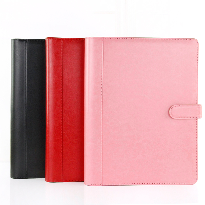 QSHOIC  A4 multifunction file folder padfolio manager clip business pu leather file foler with calculator<br>