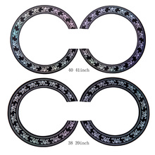 40 41 inch/38 39 inch Size Hard PVC Guitar Circle Sound Hole Rosette Inlay for Acoustic Guitars Decal Accessories New Promotion
