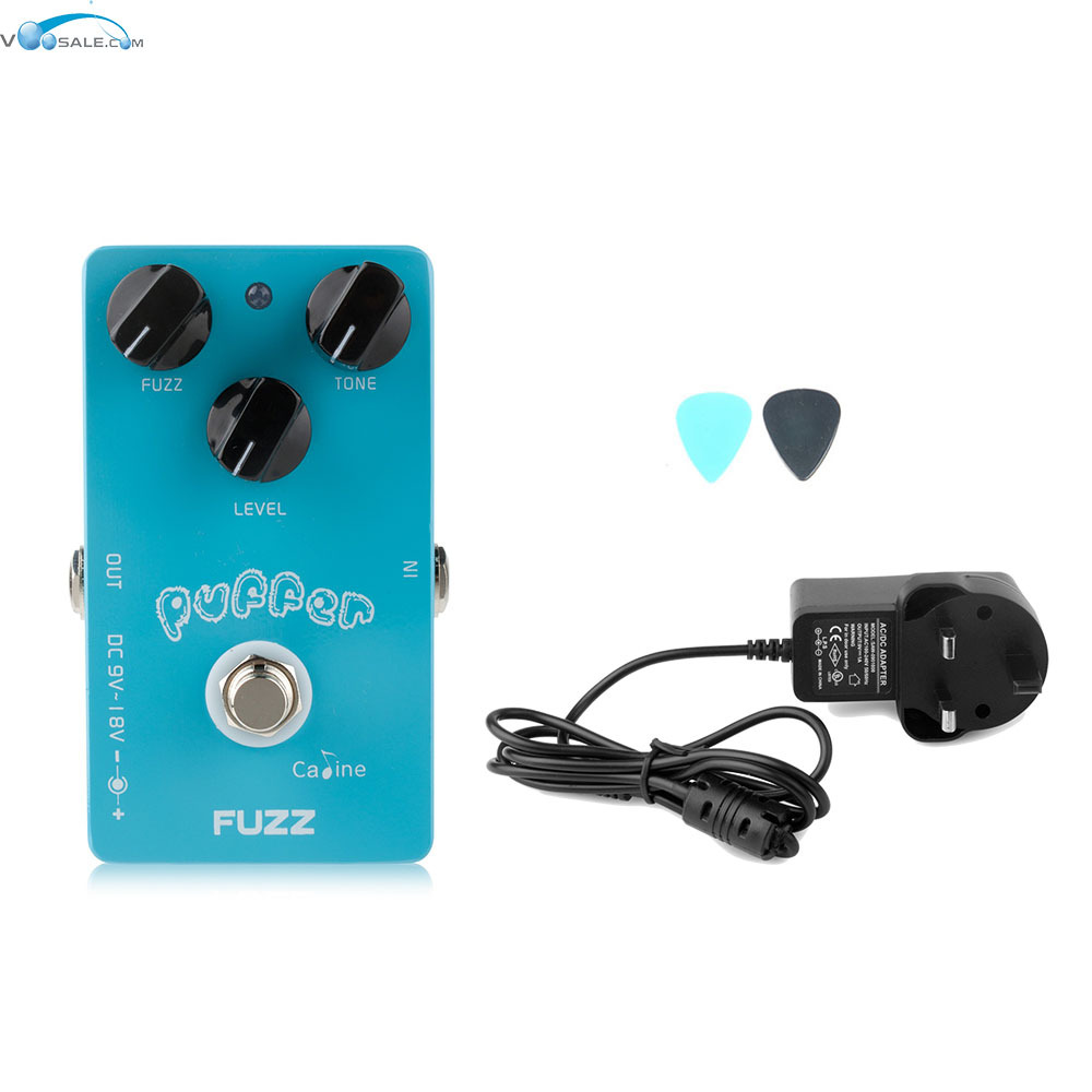 Caline CP-11 Puffer FUZZ  Effect Pedal Mini with Aluminum Alloy Housing+AC100V-240V to DC9V/1A Adapter Have AU UK US EU Plug<br>