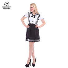 ROLECOS New Japanese School Uniform For Girls Korean Dolly Skirt Anime Women Sailor Lolita Dress Maid Uniform Cosplay Costume(China)