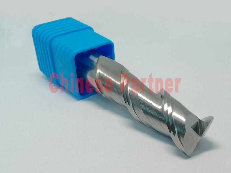 1pc 12mm hrc50 D12*45*D12*100 2Flutes end mill for Aluminum Spiral Bit milling cutter Tool Carbide CNC Endmill Router bit knife<br>